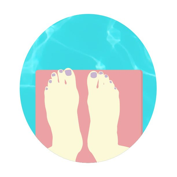 creative writing illustration diving board feet graphic design